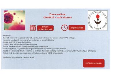 Zoom webinar COVID 19 – naša iskustva